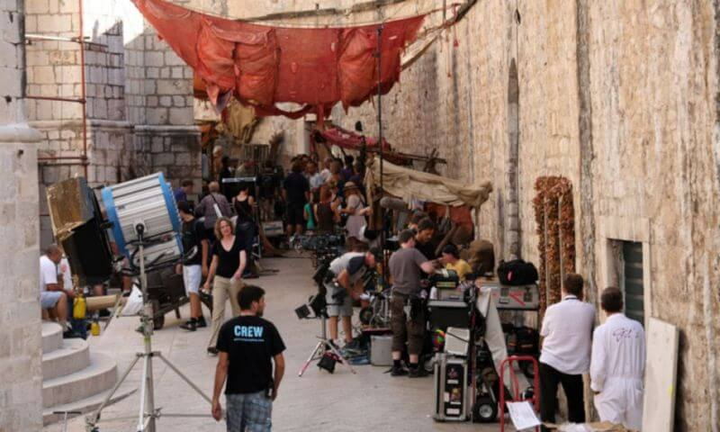Behind the scenes of Game of thrones filming in Dubrovnik