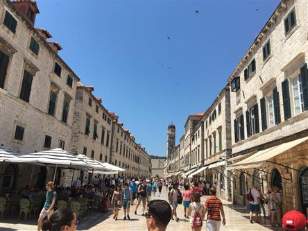 Busy Old Town, people enjoying afternoon