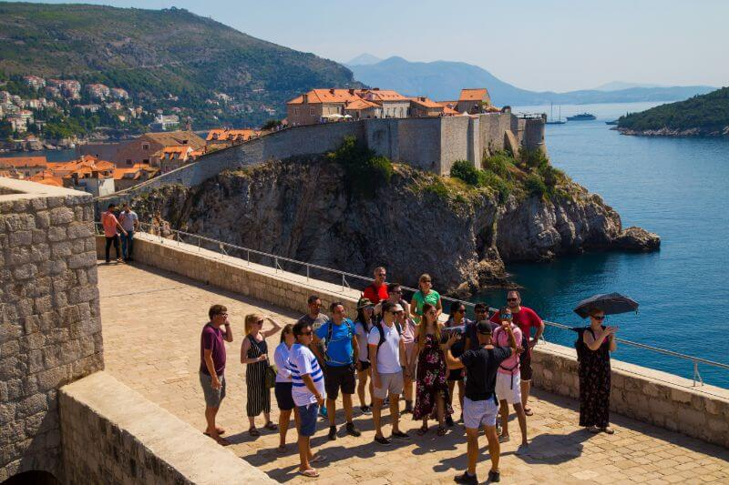 St. Lawrence also known as the Red Keep is one of the more famous Game of thrones filming location in Dubrovnik. We can see Josip and the GOT tour on top with beautiful views of Old Town.