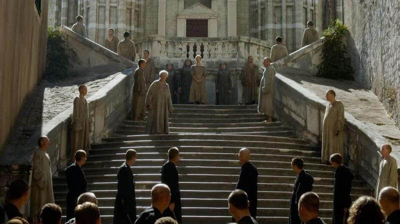 Jesuit Steps location in the show during Walk of Shame